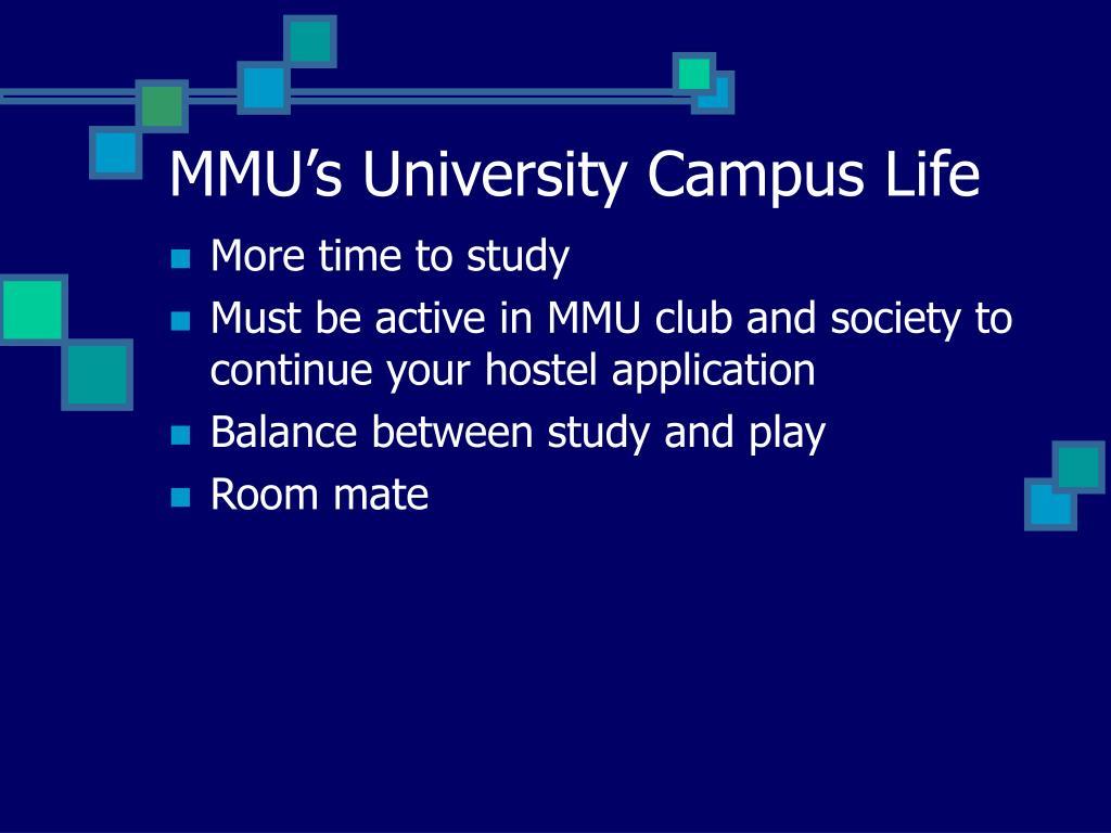 MMU's University Campus Life