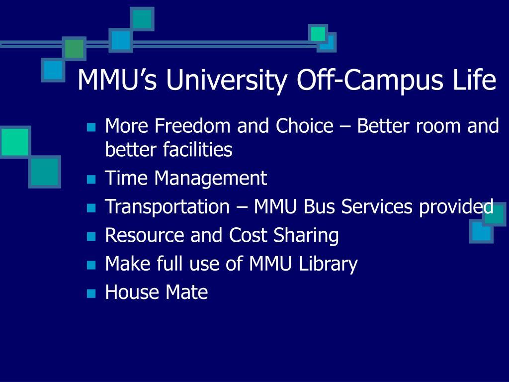 MMU's University Off-Campus Life