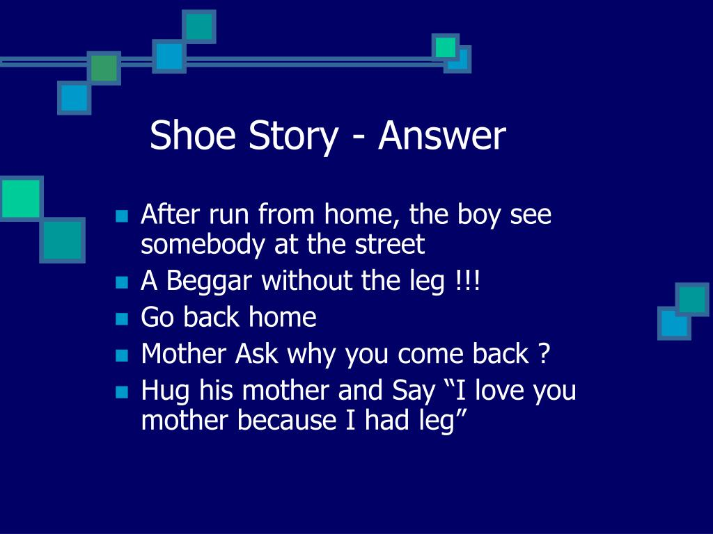 Shoe Story - Answer