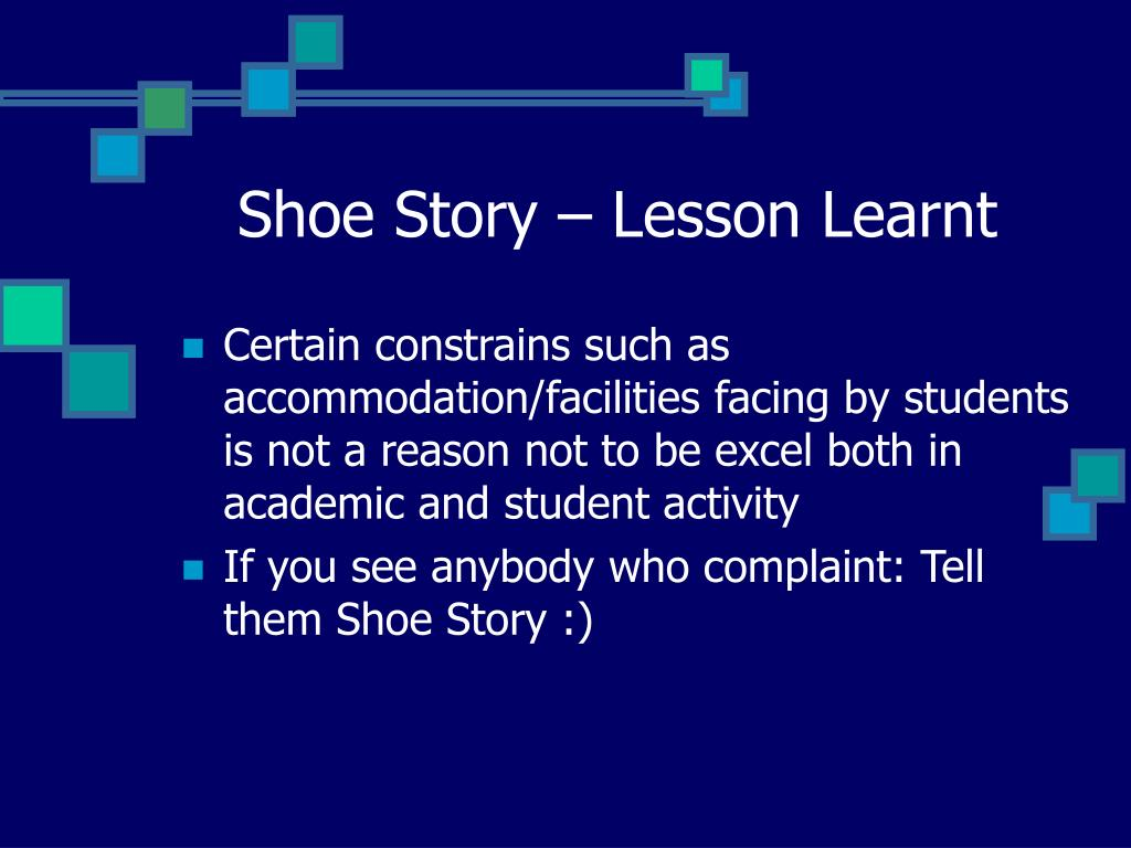 Shoe Story – Lesson Learnt