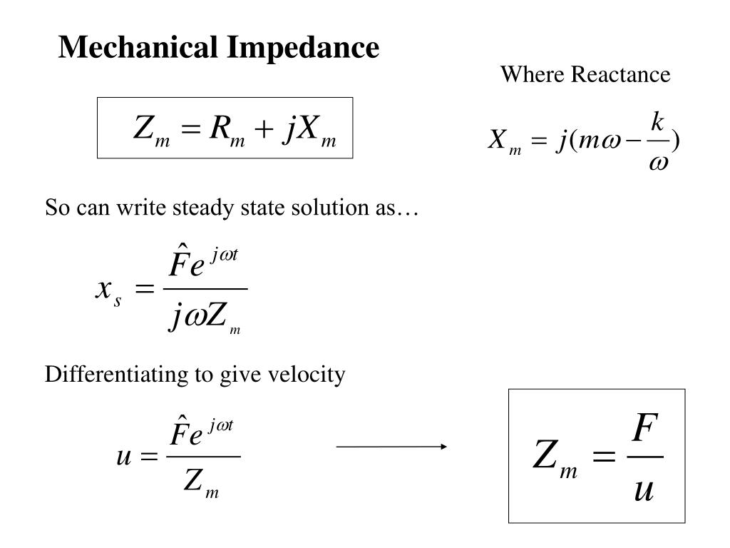 Mechanical Impedance