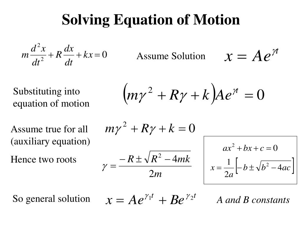 Solving Equation of Motion