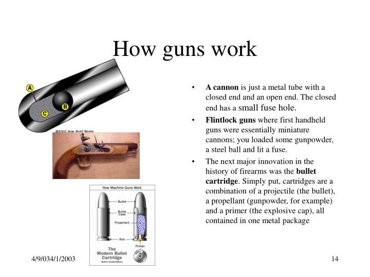 How guns work