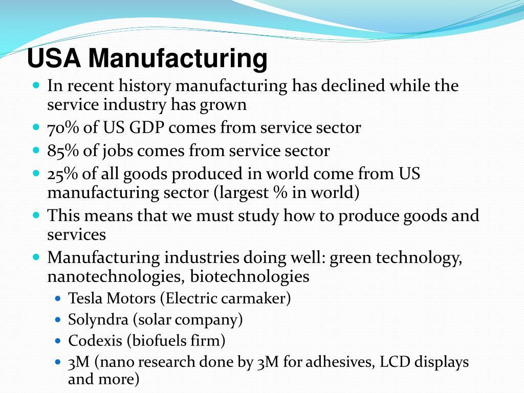 USA Manufacturing