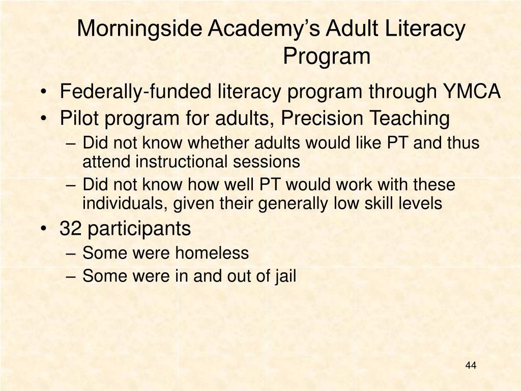 Morningside Academy's Adult Literacy Program
