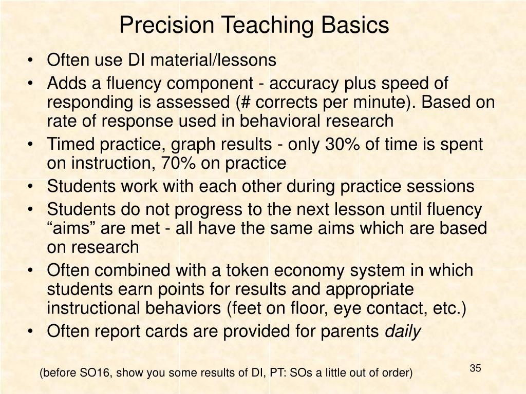 Precision Teaching Basics