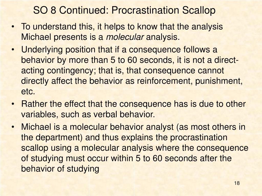 SO 8 Continued: Procrastination Scallop