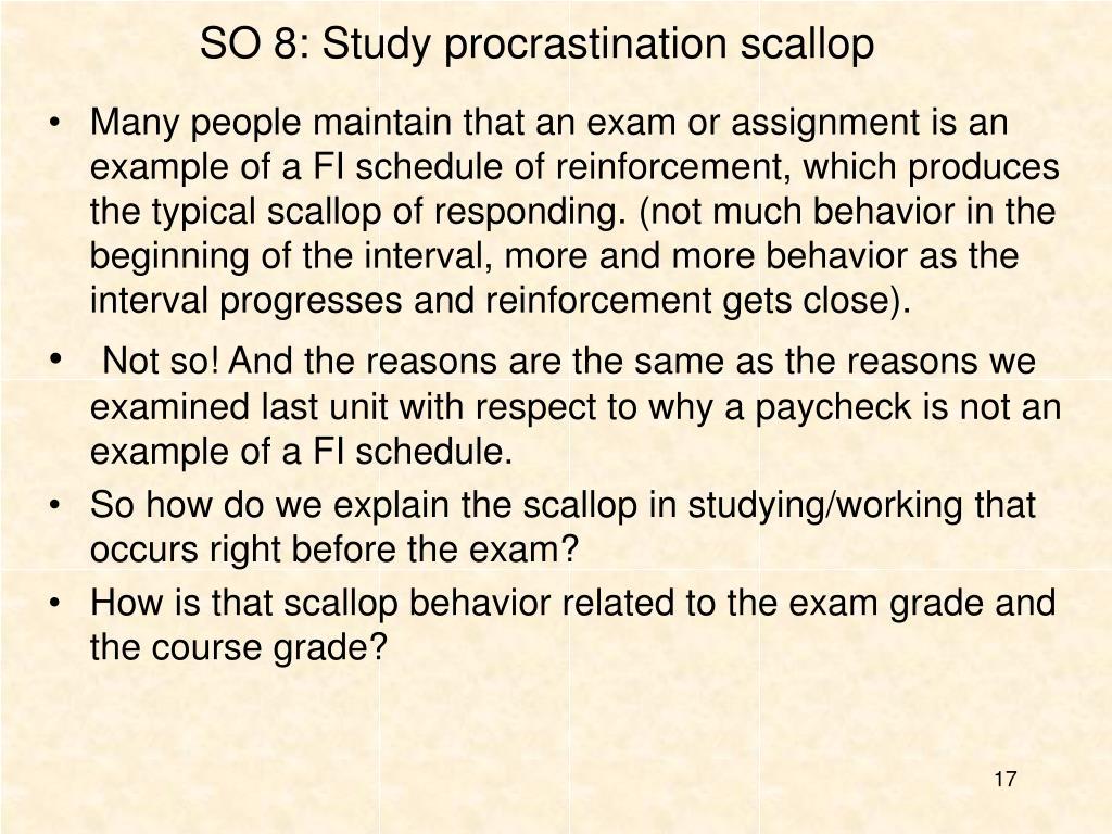 SO 8: Study procrastination scallop