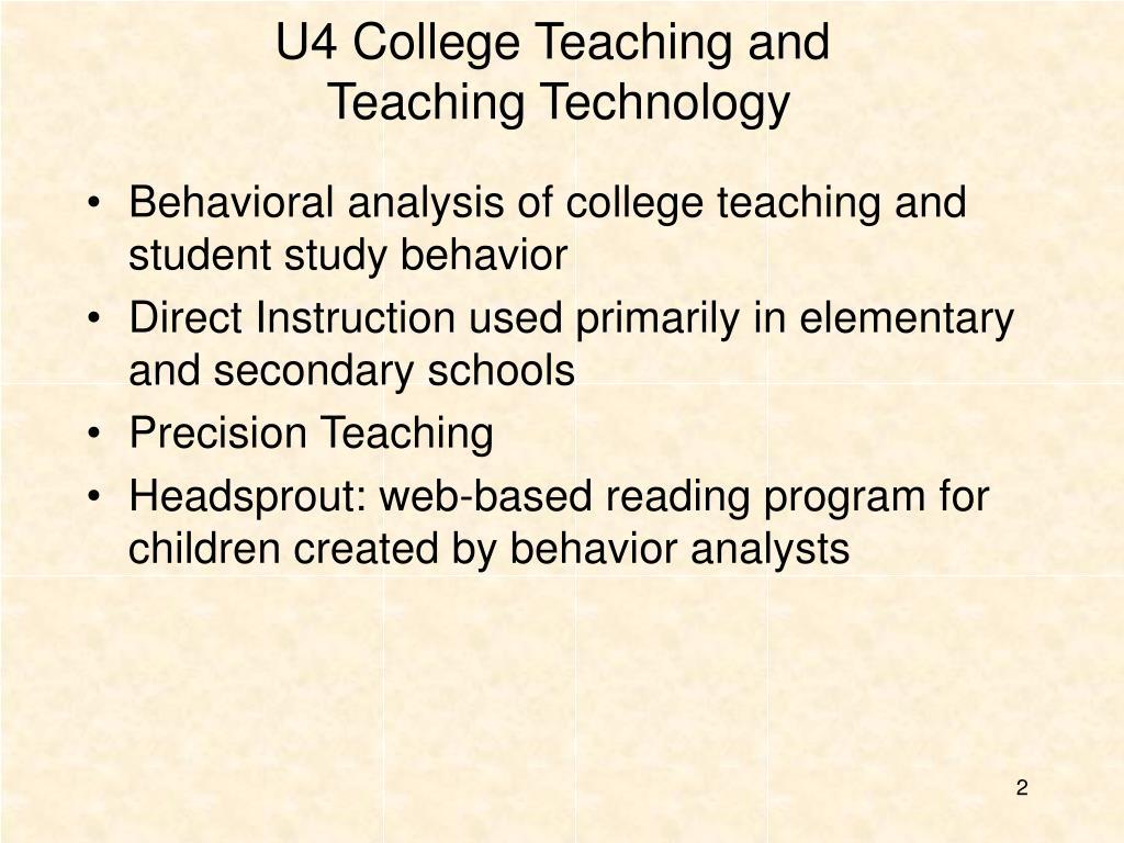 U4 College Teaching and
