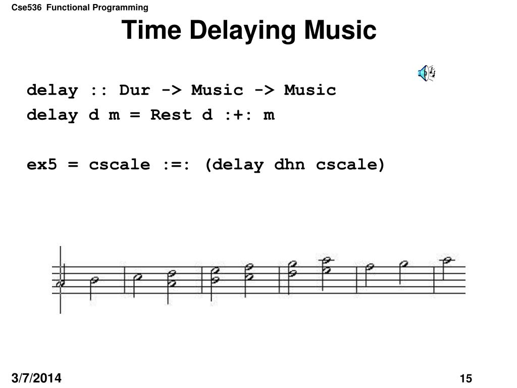 Time Delaying Music