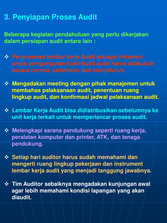Penyiapan Proses Audit