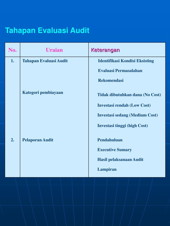 Tahapan Evaluasi Audit