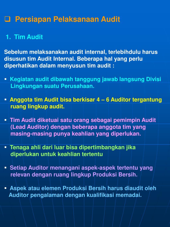 Persiapan Pelaksanaan Audit