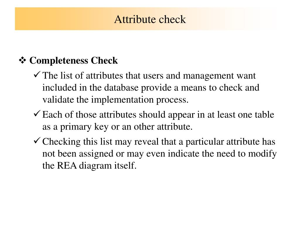 Attribute check