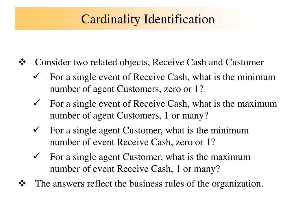 Cardinality Identification