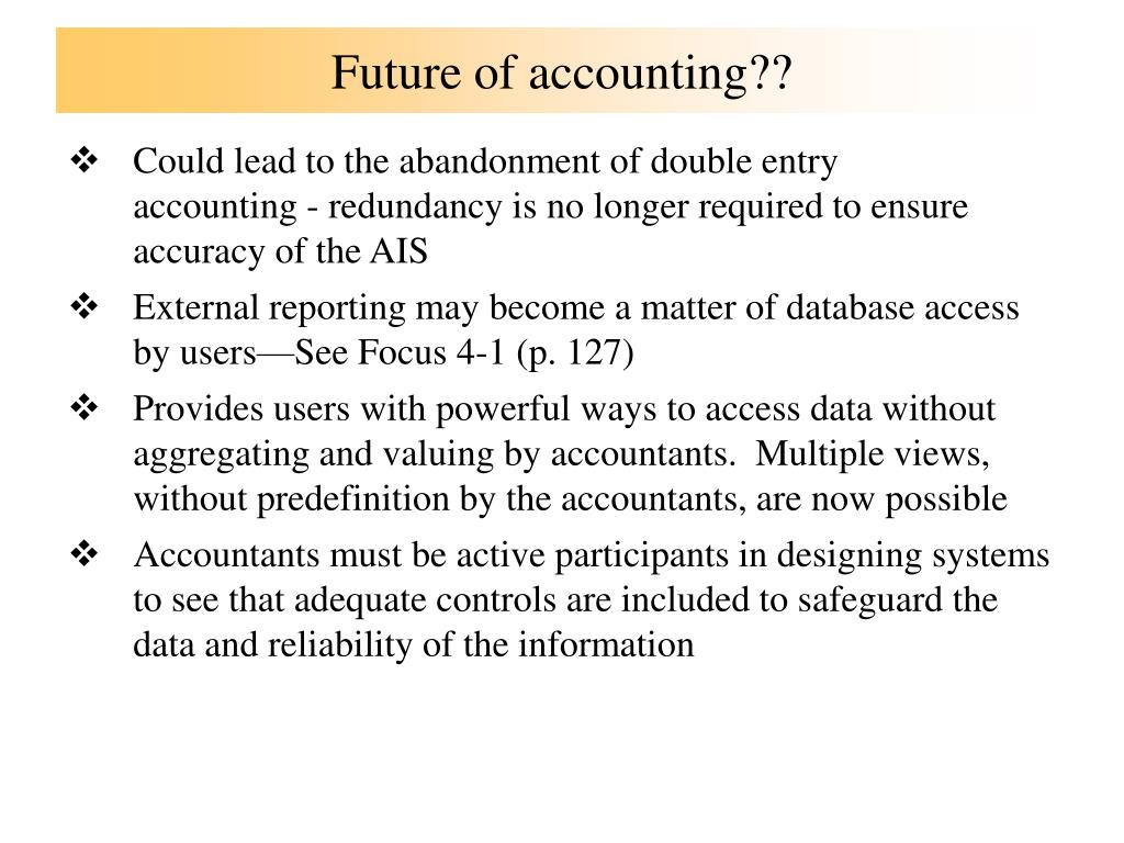 Future of accounting??