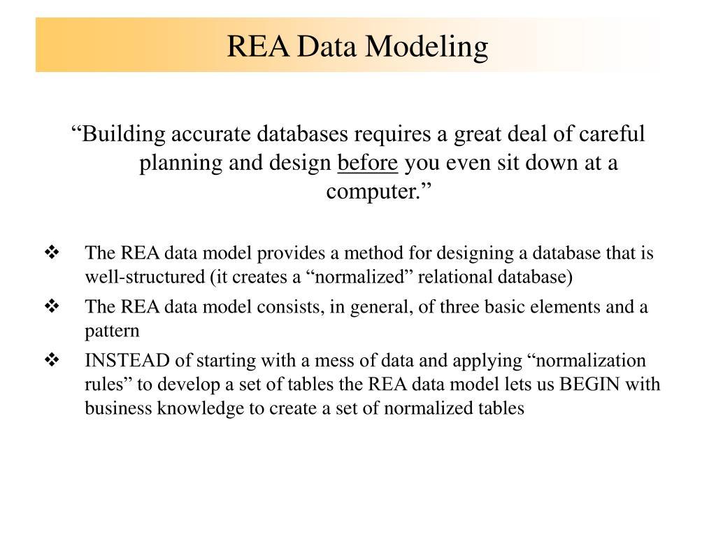 REA Data Modeling