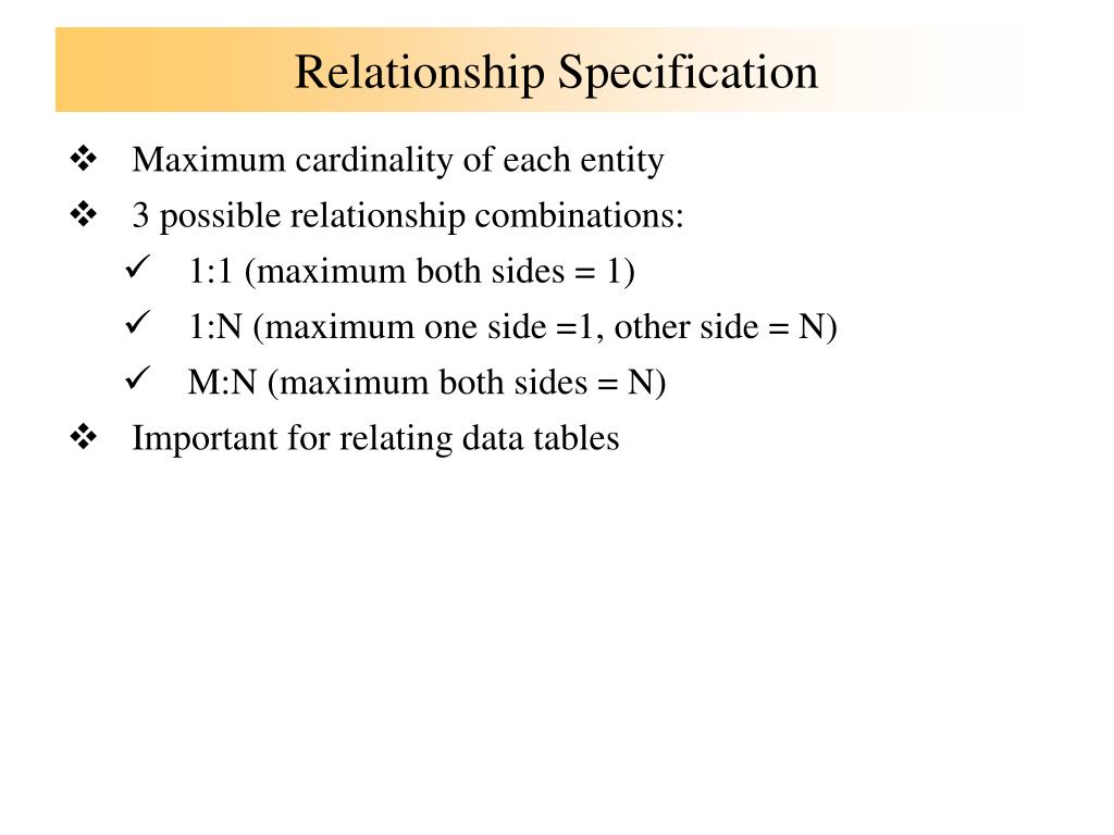 Relationship Specification