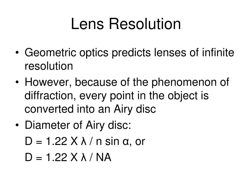 Lens Resolution