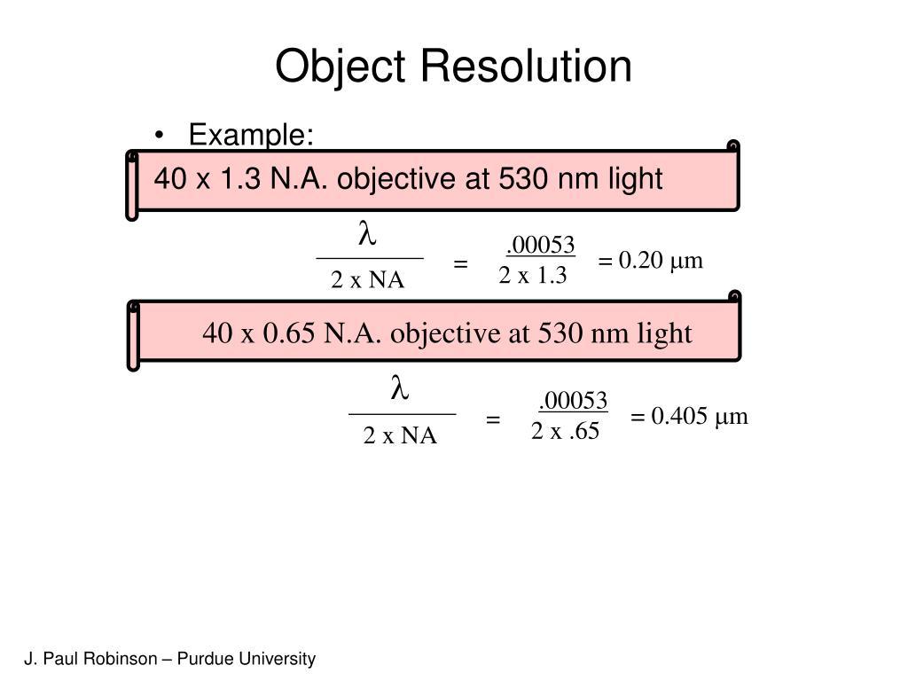 Object Resolution