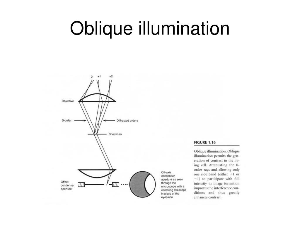 Oblique illumination