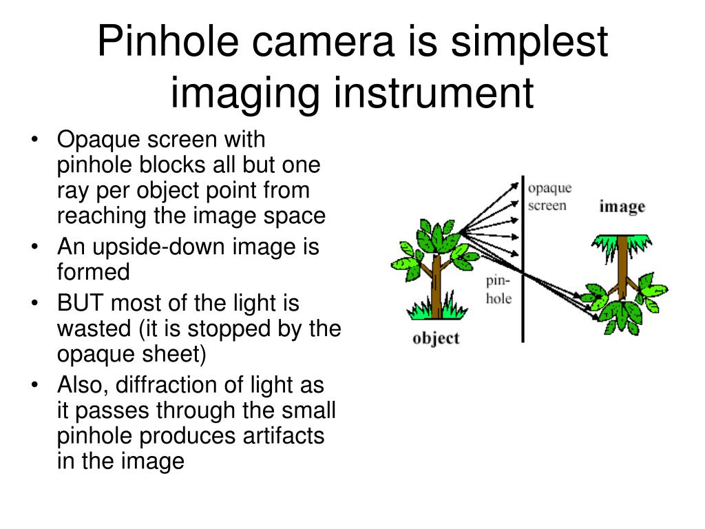 Pinhole camera is simplest imaging instrument