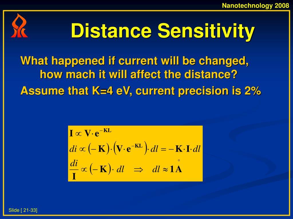 Distance Sensitivity