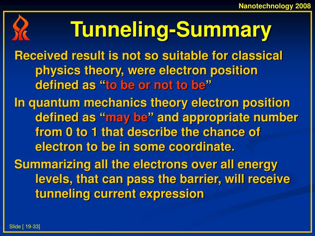 Tunneling-Summary