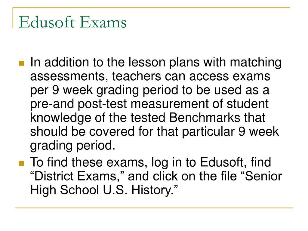 Edusoft Exams
