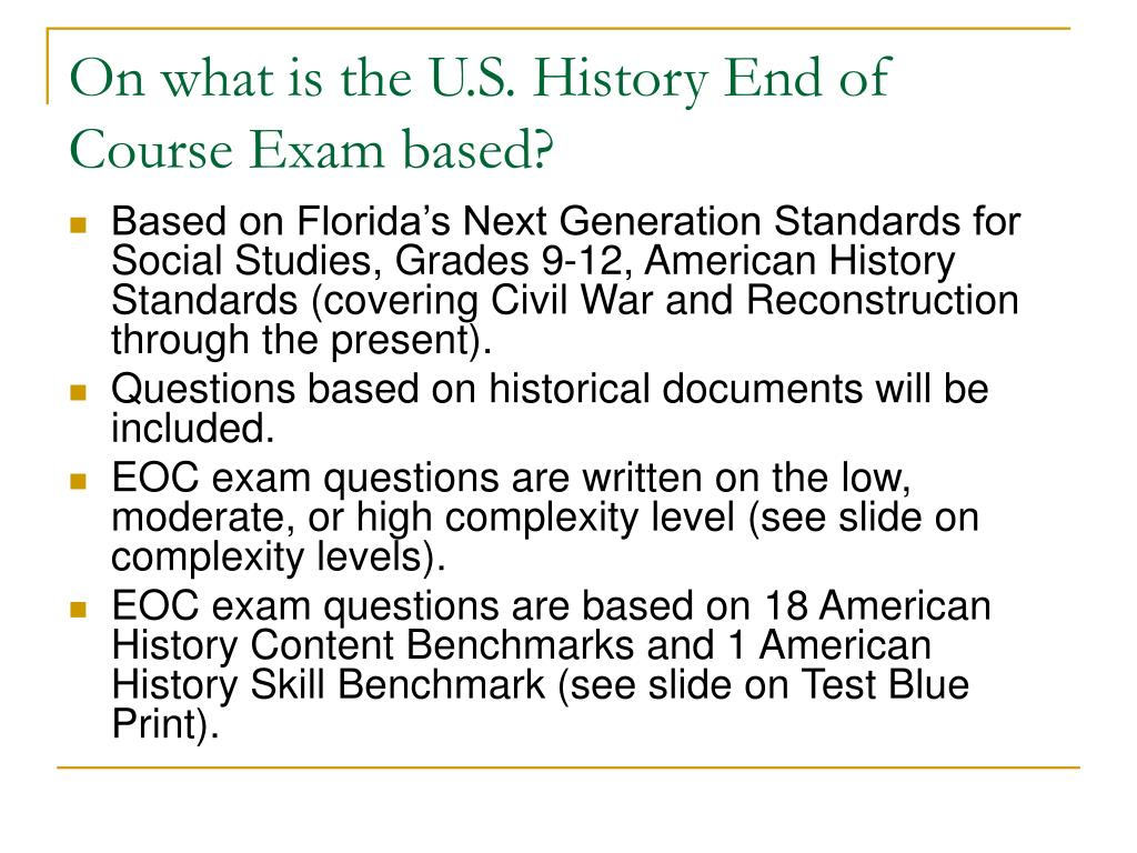 u s history test questions Organized for easy reference and crucial practice, coverage of all the essential  topics presented as 500 ap-style questions with detailed answer explanations.