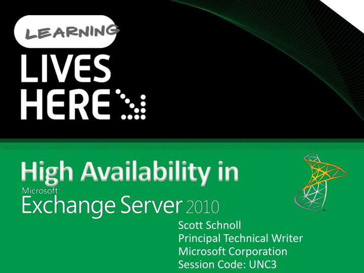 High availability in