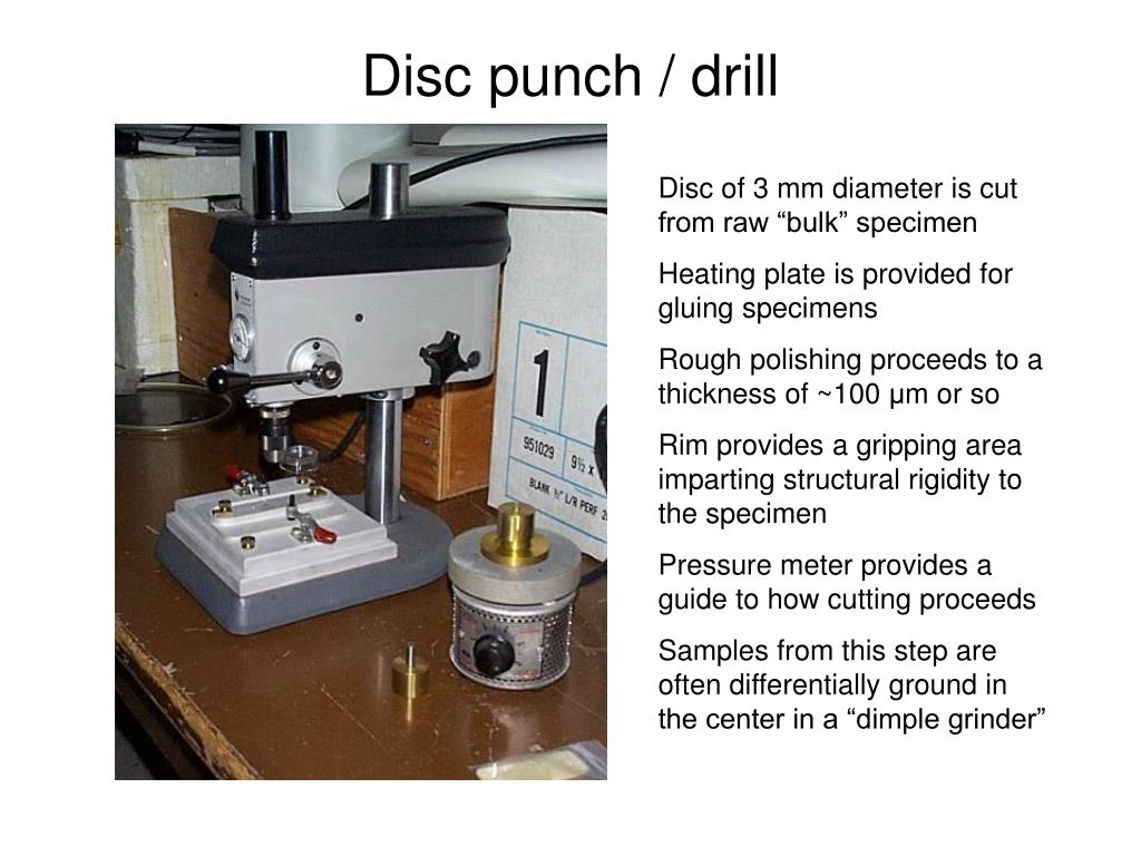 Disc punch / drill