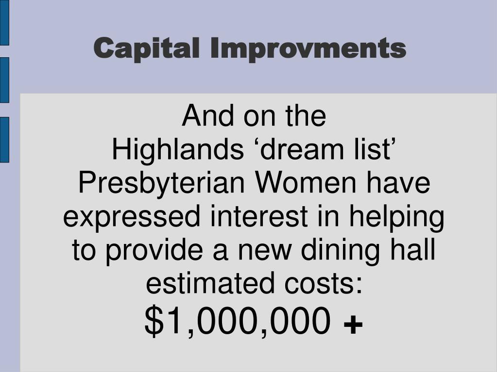 Capital Improvments