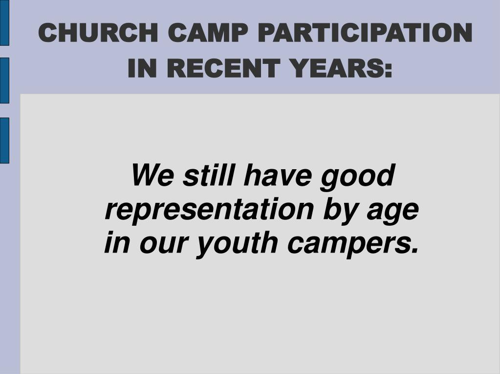 CHURCH CAMP PARTICIPATION