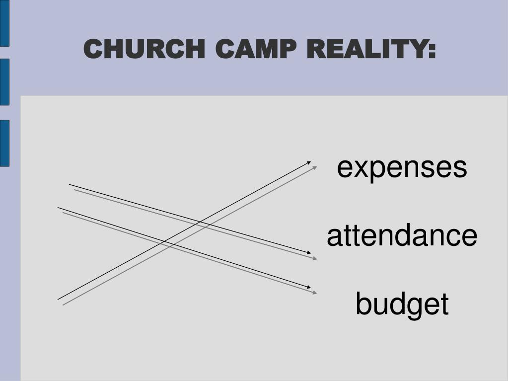 CHURCH CAMP REALITY:
