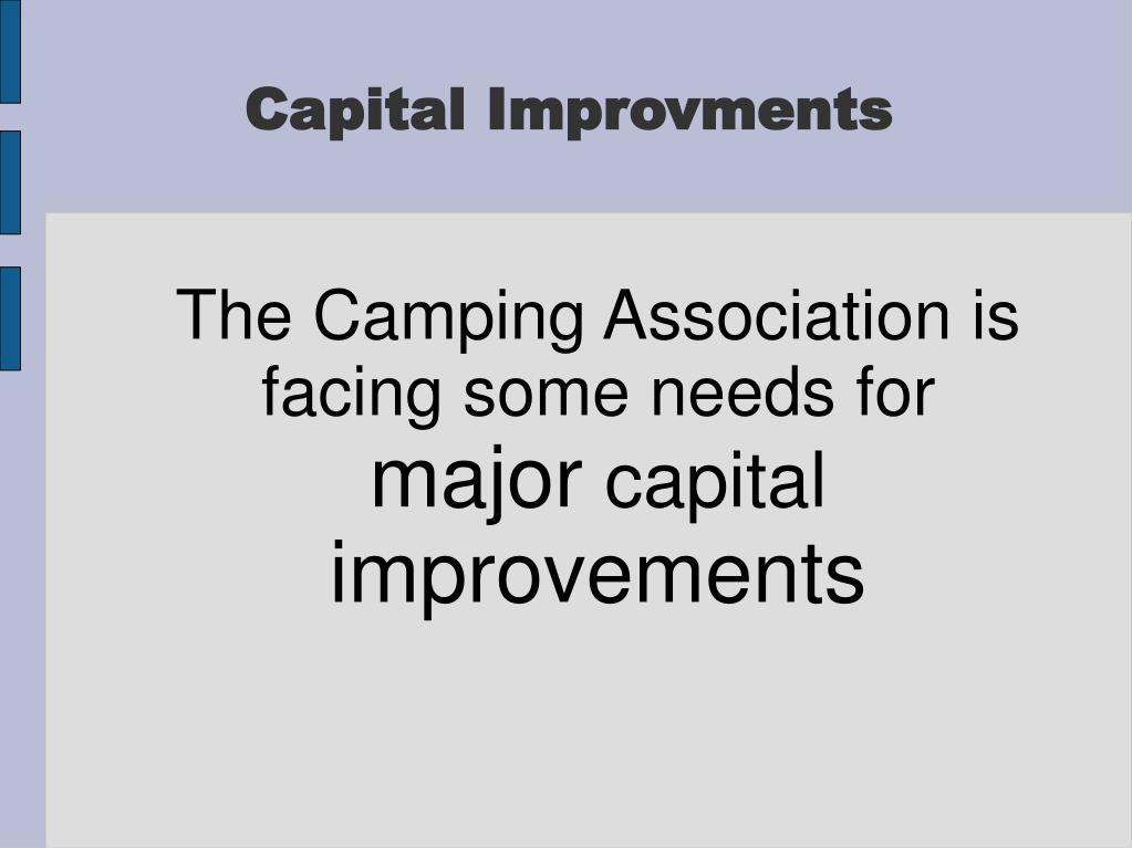 The Camping Association is facing some needs for