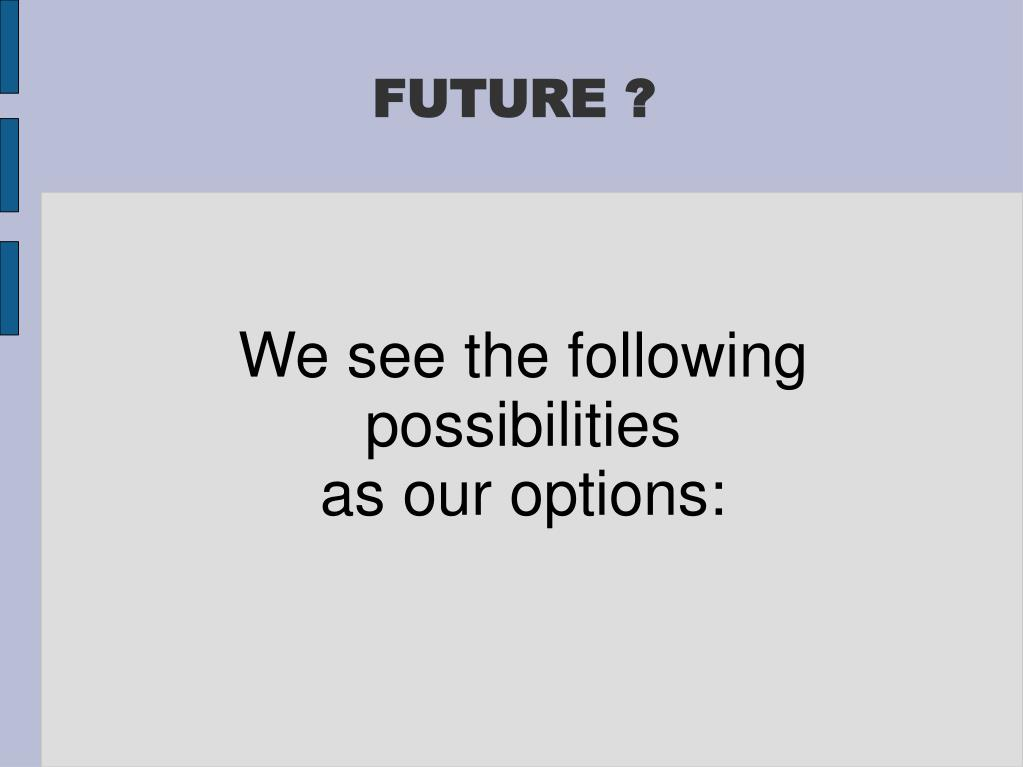 We see the following possibilities