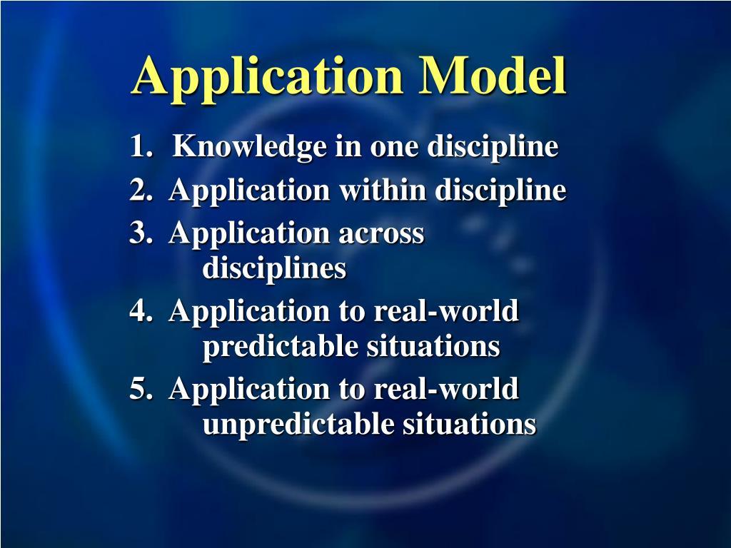 Application Model