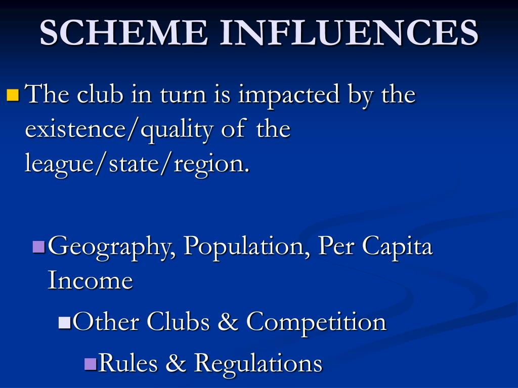 SCHEME INFLUENCES