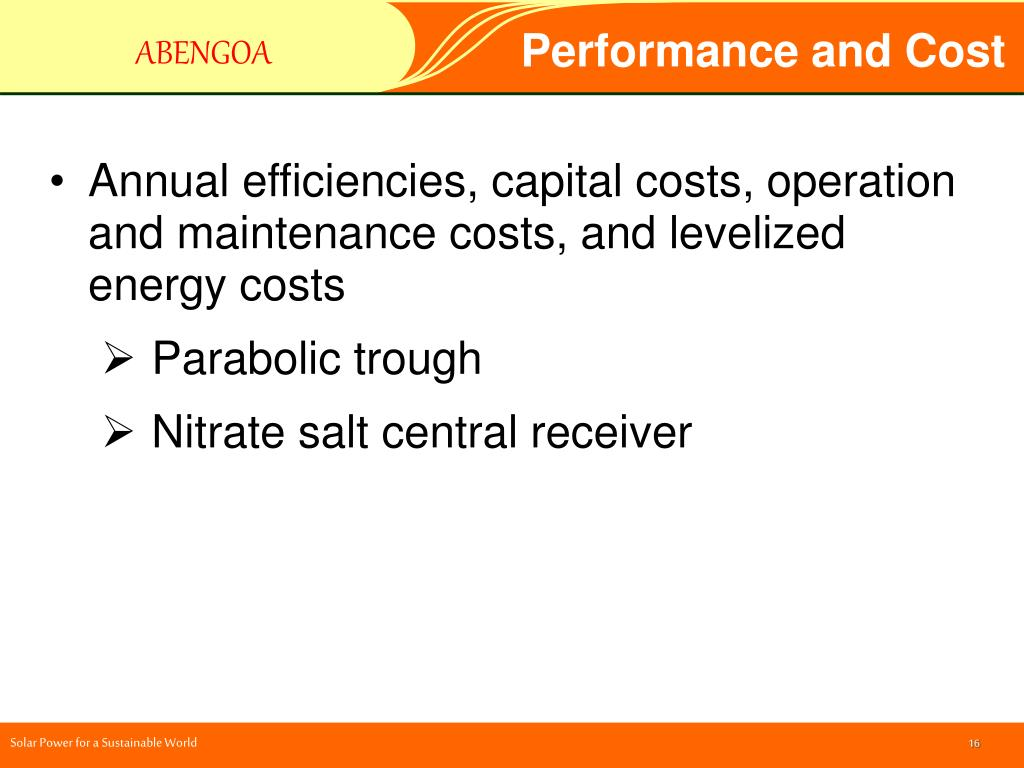 Performance and Cost