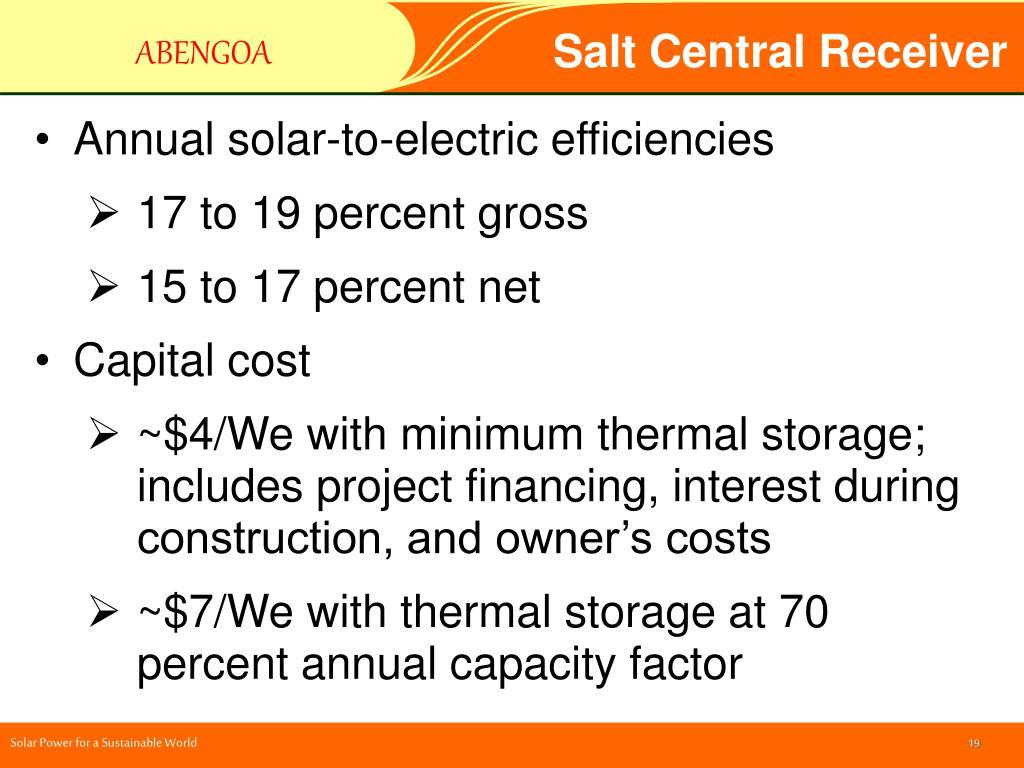 Salt Central Receiver