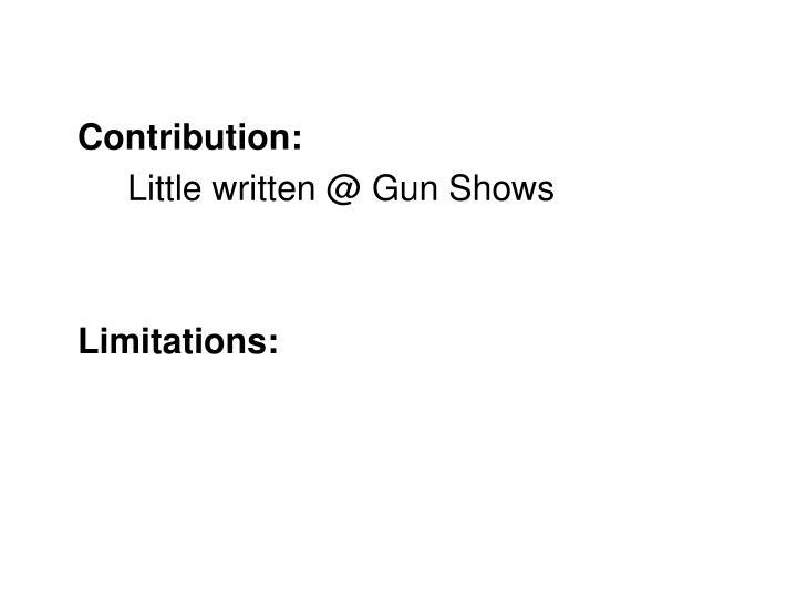 Contribution: