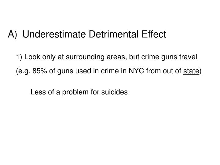 Underestimate Detrimental Effect
