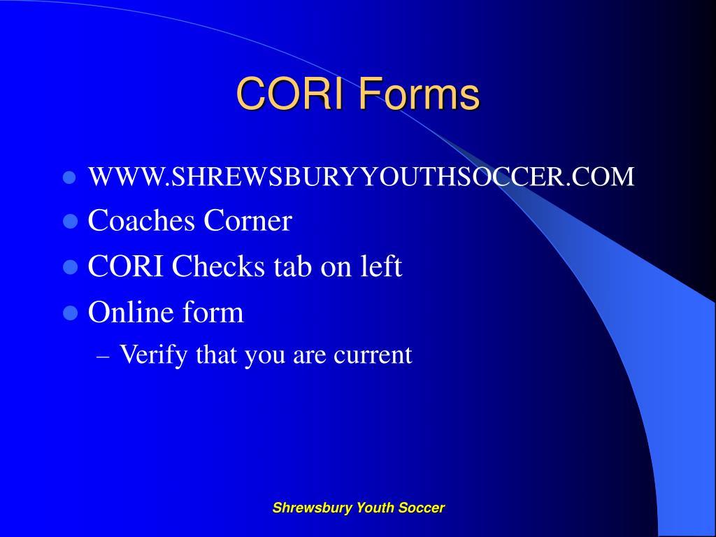 CORI Forms