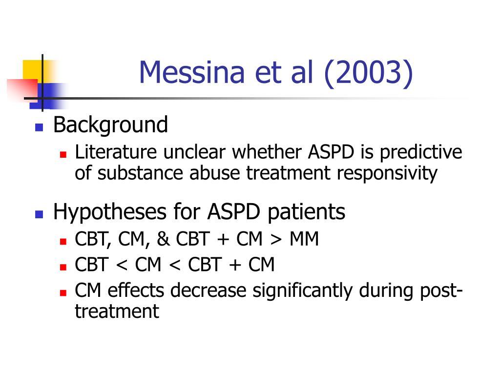 Messina et al (2003)
