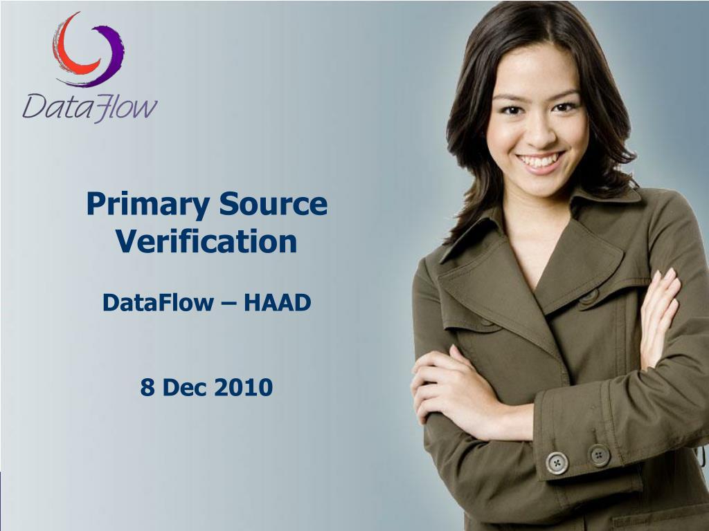 Primary Source Verification