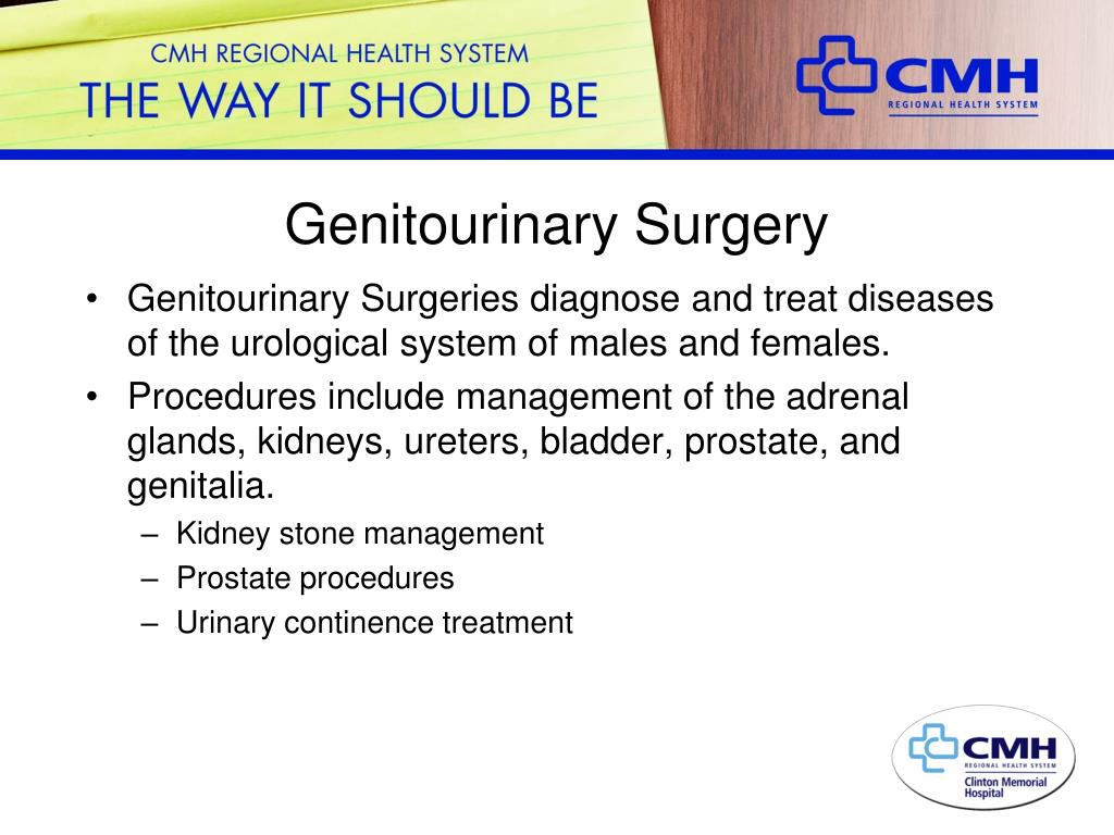 Genitourinary Surgery