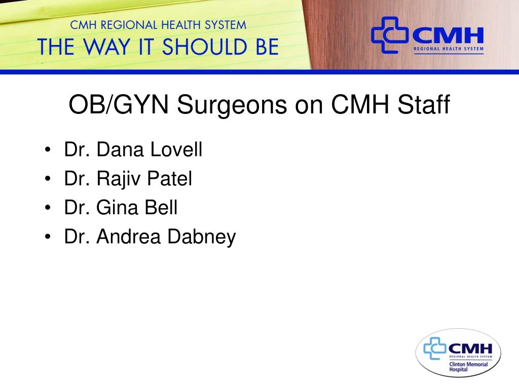 OB/GYN Surgeons on CMH Staff