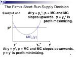 the firm s short run supply decision7