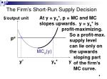 the firm s short run supply decision8